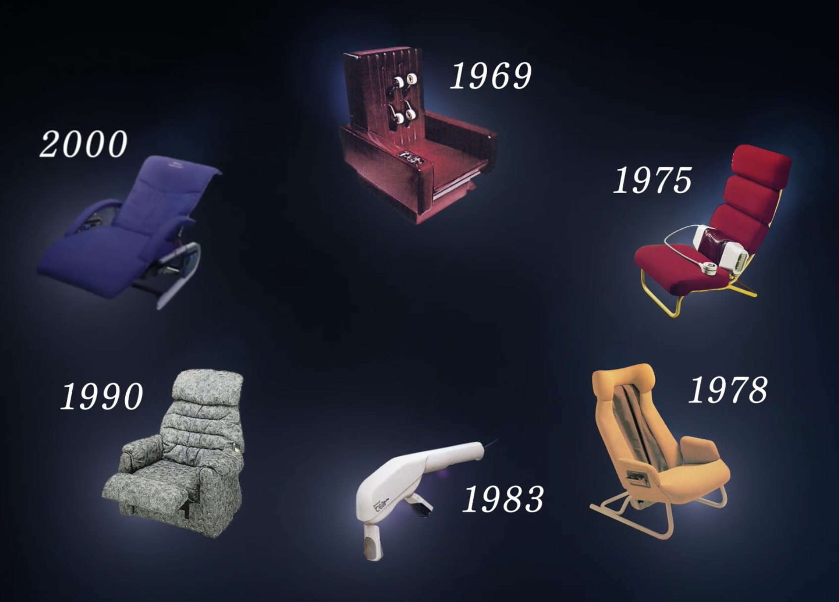 massage chairs over the years